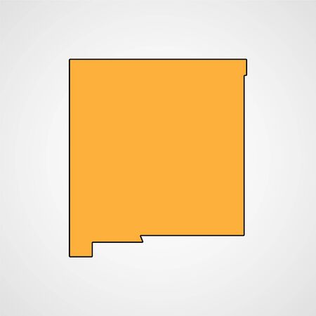 topographical: New Mexico map. Vector Illustration