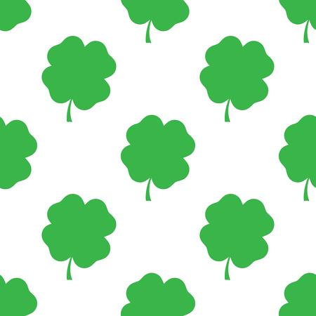 seamless clover: Clover leaf seamless pattern. Vector
