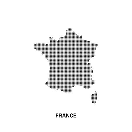 corsica: France dotted map