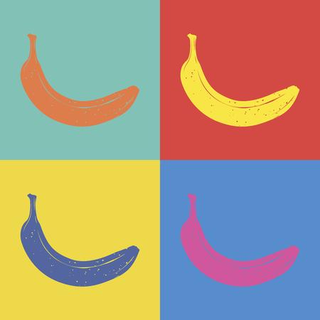 Banana pop art style illustration Ilustrace
