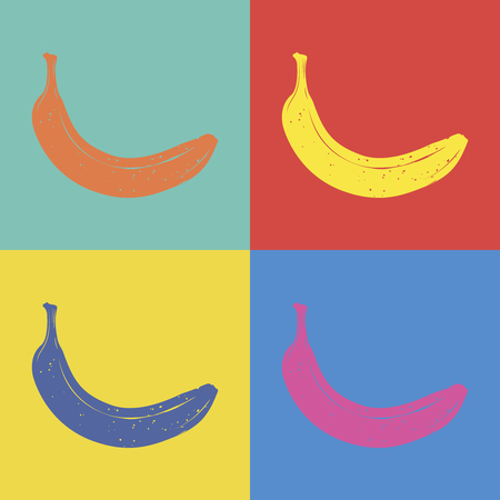 Banana pop art style illustration Vettoriali