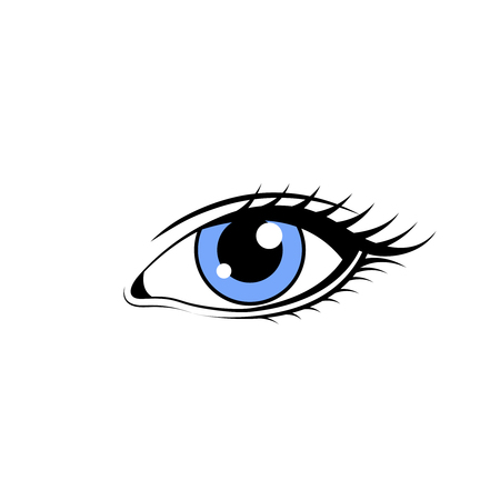 Eye vector sketch on white background