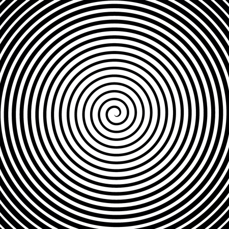 hypnotism: Black and white hypnosis spiral. Vector