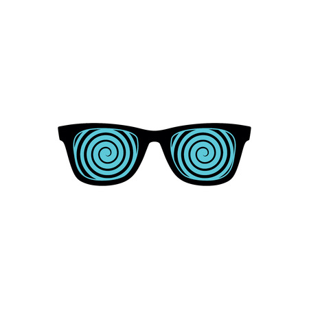 Glasses with hypnotizing spirals