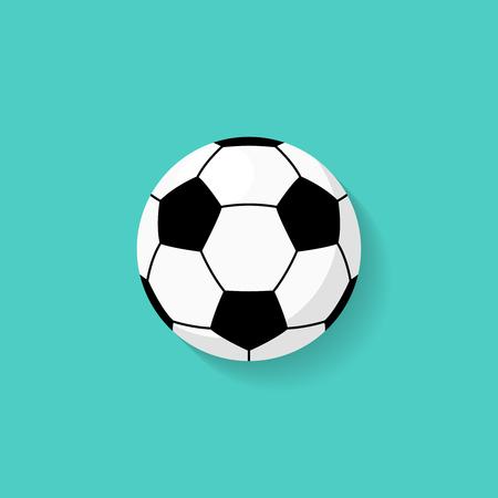 Icono de balón de fútbol en estilo plano. Vector