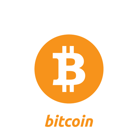 Bitcoin cryptocurrency icon. Vector illustration