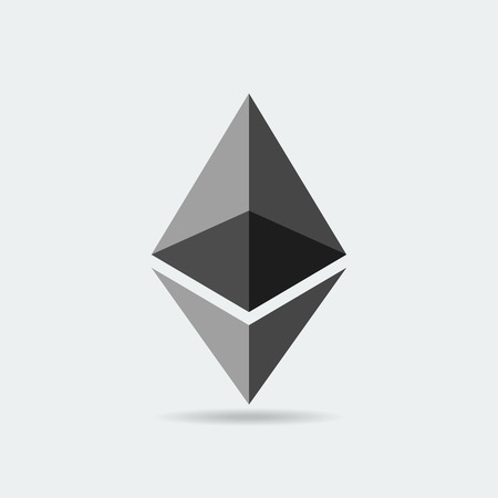 Ethereum cryptocurrency icon. Vector