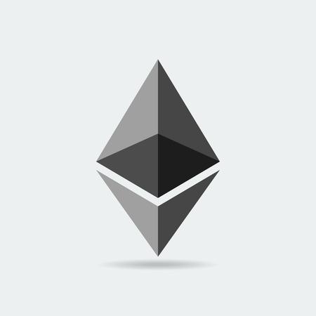 Ethereum cryptocurrency icon. Vector
