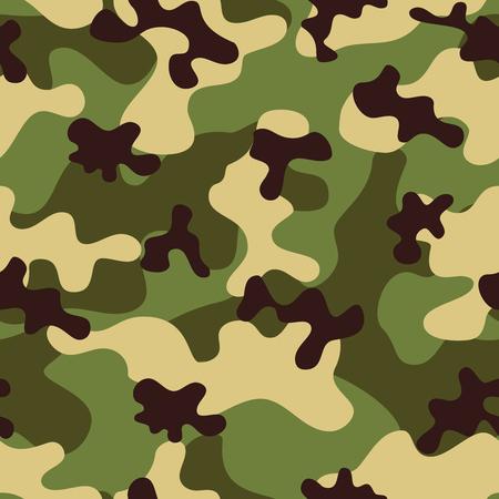 camoflage: Khaki camouflage seamless pattern. Vector background