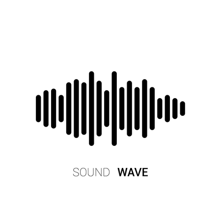 soundwave: Sound wave on white background. Music equalizer. Vector Illustration