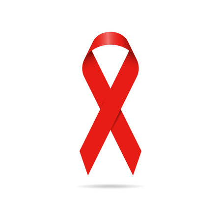 Red Ribbon World Aids Day Symbol Vector Illustration Royalty Free