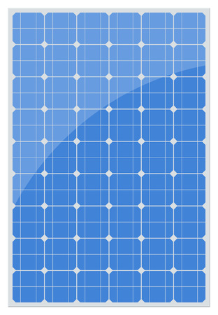 Solar panel isolated on a white background. Vector