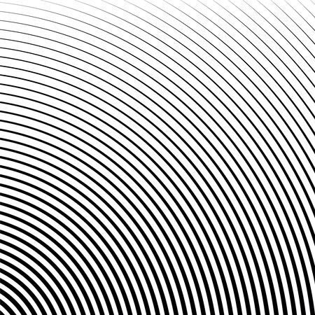 Geometric circular pattern with gradient lines