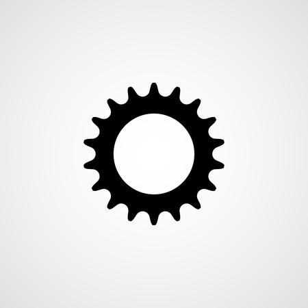 Bicycle sprocket. Vector icon