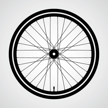 Bicycle wheel vector icon.