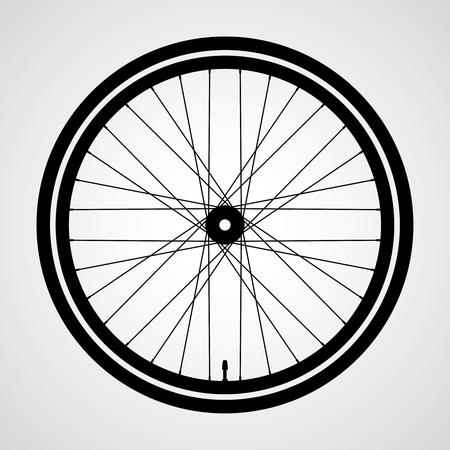 Bicycle wheel vector icon.