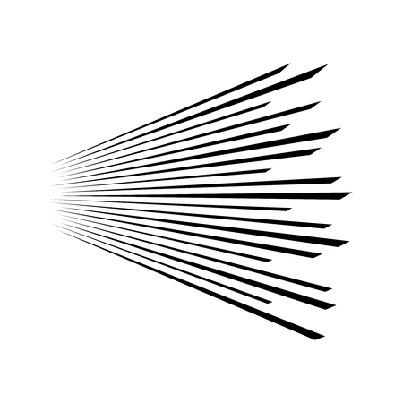 Speed lines on Abstract background. Lines in perspective Vector