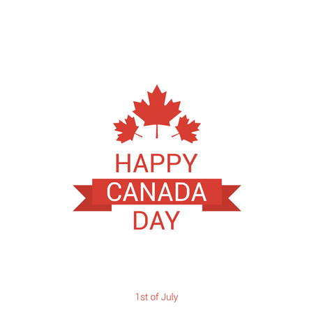 Happy Canada Day poster template. Vector illustration Illustration