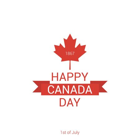 Happy Canada Day poster. Vector illustration