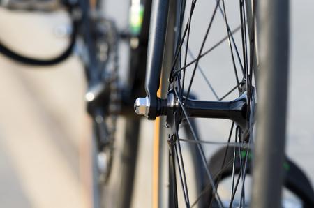 Roue, moyeu et rayons de vélo avant