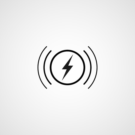 Wireless charging  icon Banque d'images - 105582797