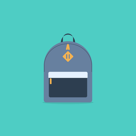 School bag. Backpack. Vector illustration in flat style Ilustracja