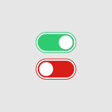 Switches on and off. Vector icon