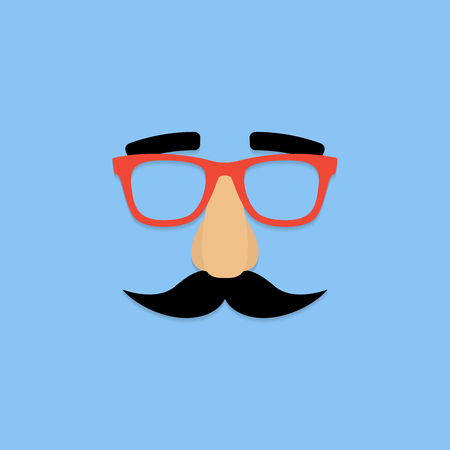 Mask with glasses fake nose and mustache. Ilustração