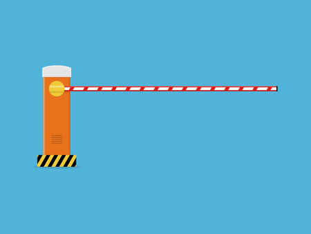 Closed road barrier. Illustration