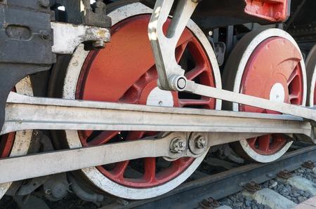 Steam locomotive detail with cranks and wheels Reklamní fotografie