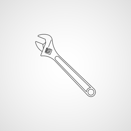 Adjustable wrench icon Çizim