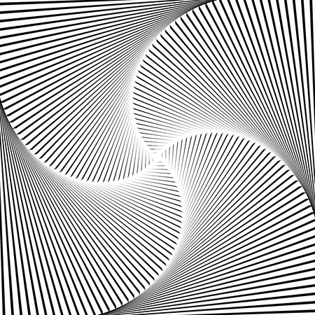 Black lines spiral background. Vector