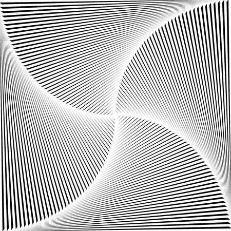 Gradient spiral background. Black lines. Vector Çizim