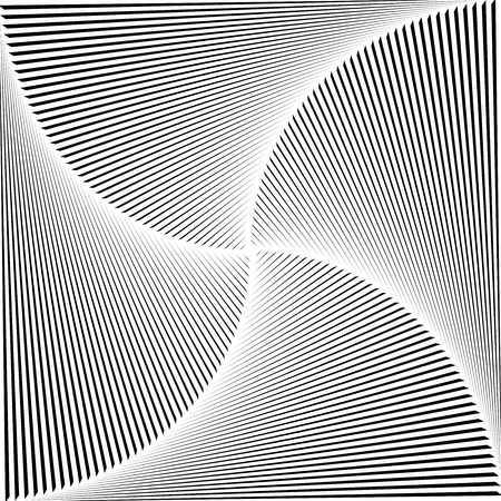 Gradient spiral background. Black lines. Vector Illustration