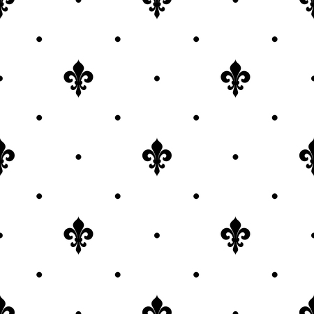 Fleur de lis seamless pattern. Vector background