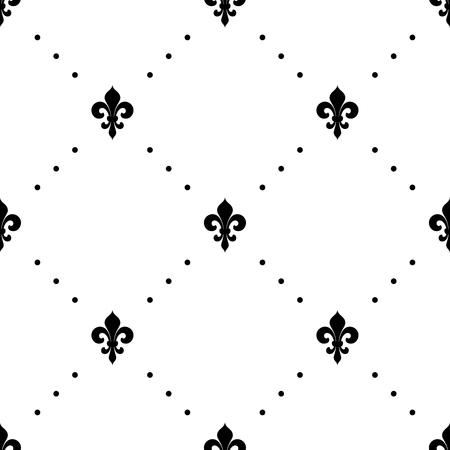 Fleur de lis seamless pattern. Vector background Vector Illustration