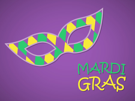 Mardi gras card with mask. Vector