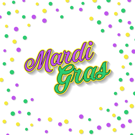 Carnival Mardi Gras greeting card. Vector illustration