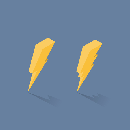 Lightning isometric icons. Vector illustration