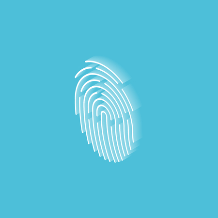 Touch ID fingerprint isometric icon. Vector illustration  イラスト・ベクター素材