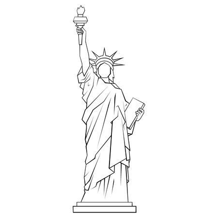 Statue of Liberty icon. Outline illustration on white background Stok Fotoğraf - 123643549