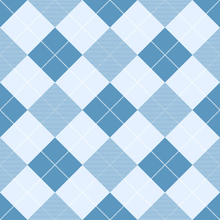 Seamless pattern of diagonal plaid. Vector background