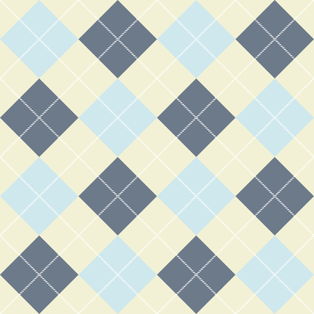 Seamless checkered pattern of diagonal plaid. Vector background  イラスト・ベクター素材