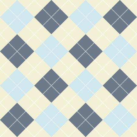 Seamless checkered pattern of diagonal plaid. Vector background Çizim