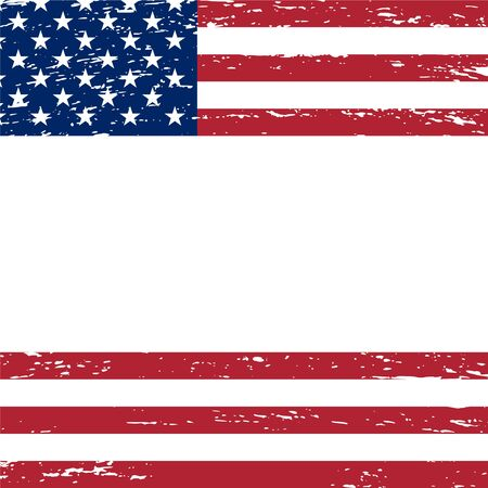 American patriotic background in grunge style with empty space for your text. Vector