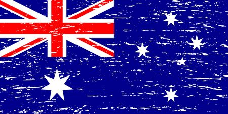 Grunge flag of Australia. Vector illustration