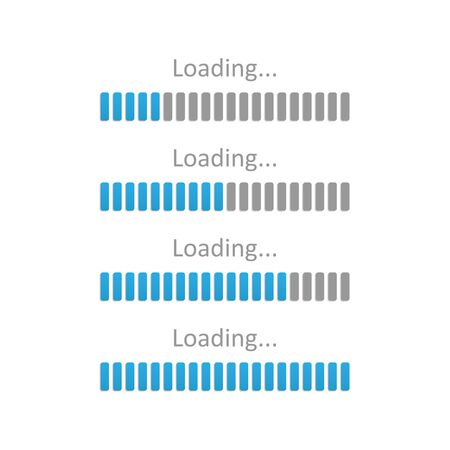 Progress loading bar. Vector illustration