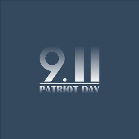 Patriot day USA 9.11 minimalist poster. September 11. Vector