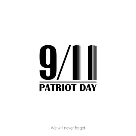 Patriot day USA 9.11 vector poster. September 11, we will never forget Illusztráció