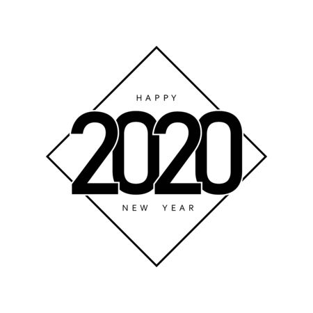 Happy New Year 2020 design pattern. Vector illustration